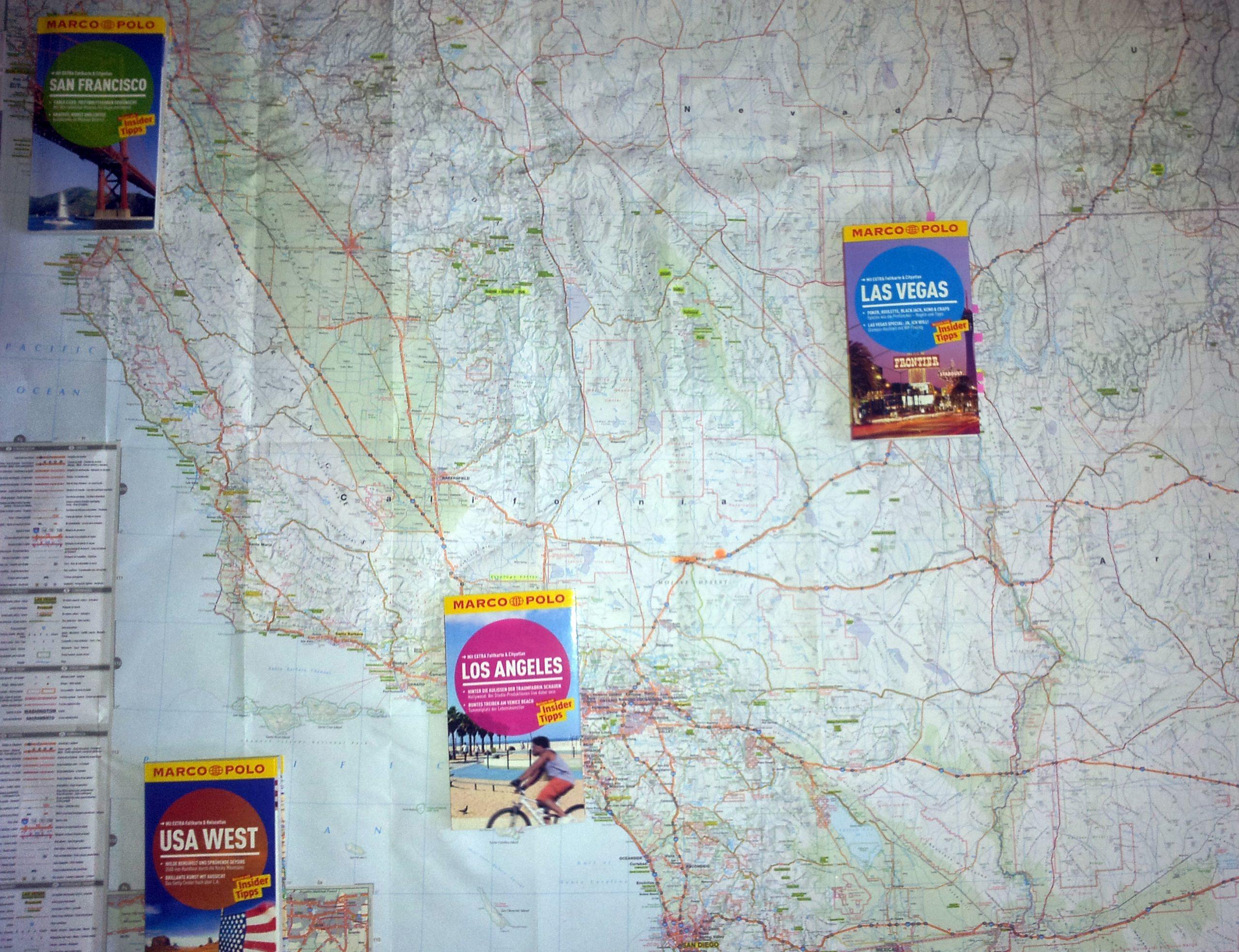 Landkarte Kalifornien