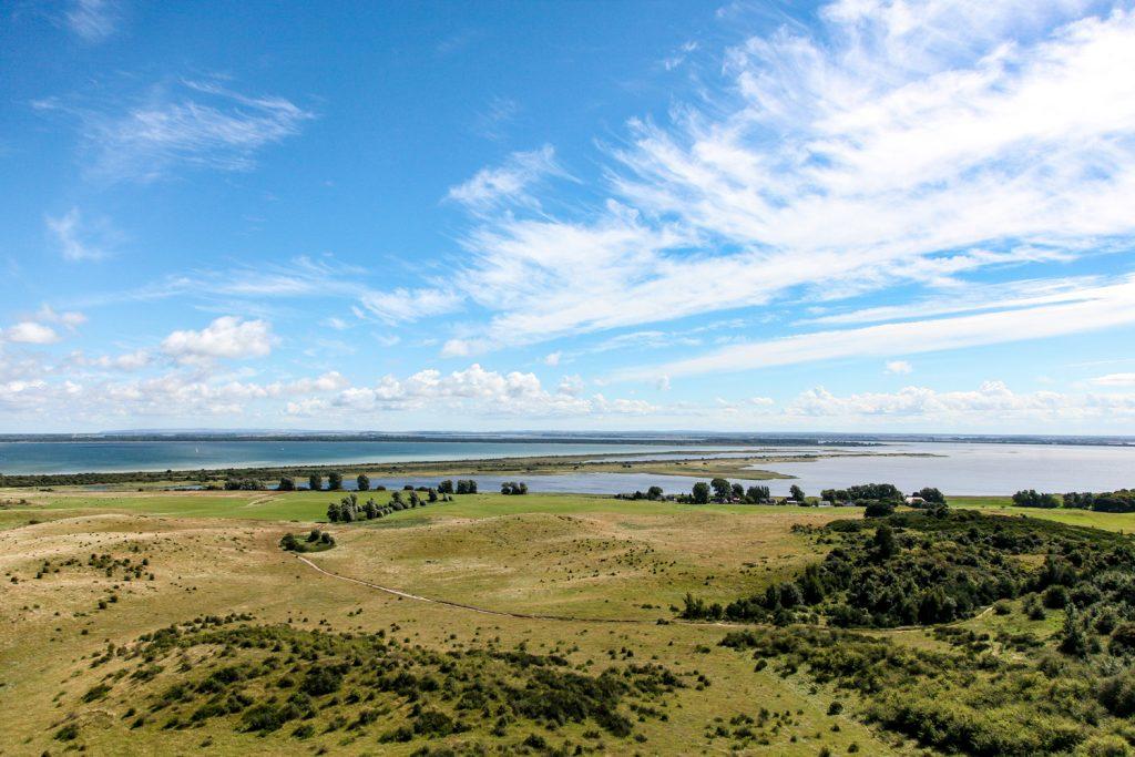 Blick auf die Insel Hiddensee