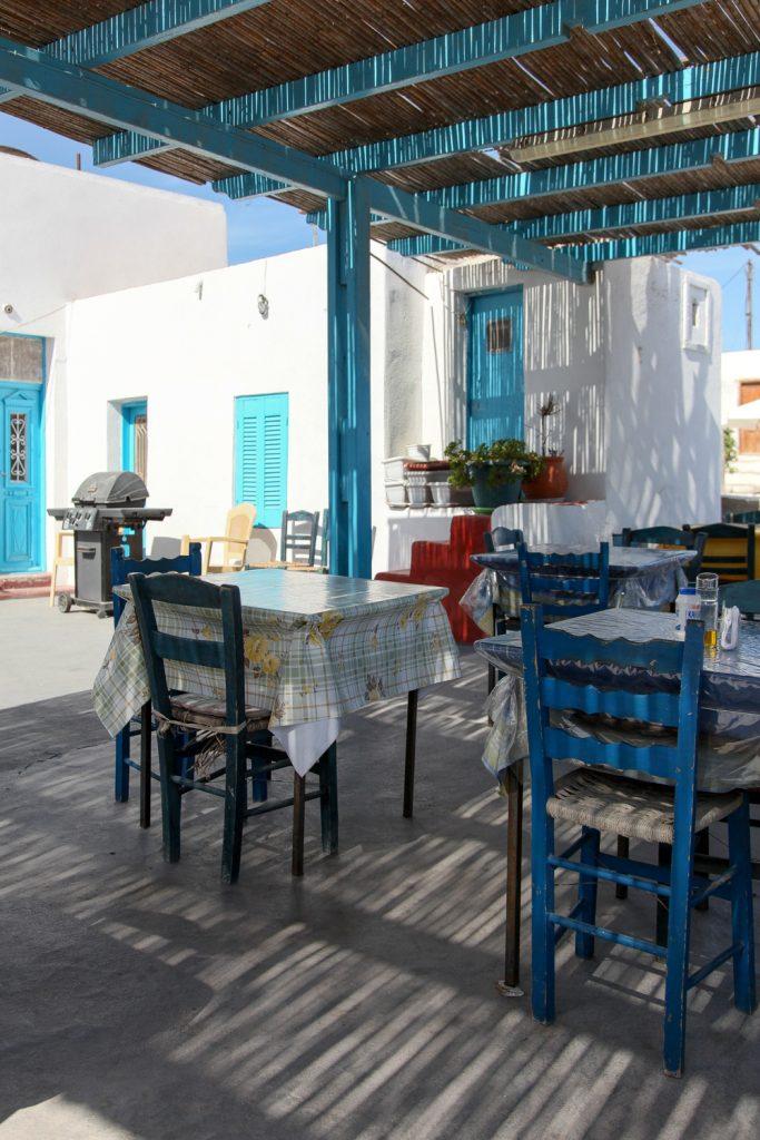 griechische Taverne in Thirassia